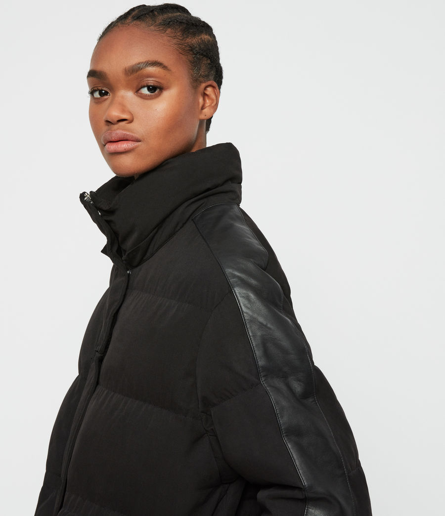 Womens Kyle Parka Puffer Coat (black) - Image 5