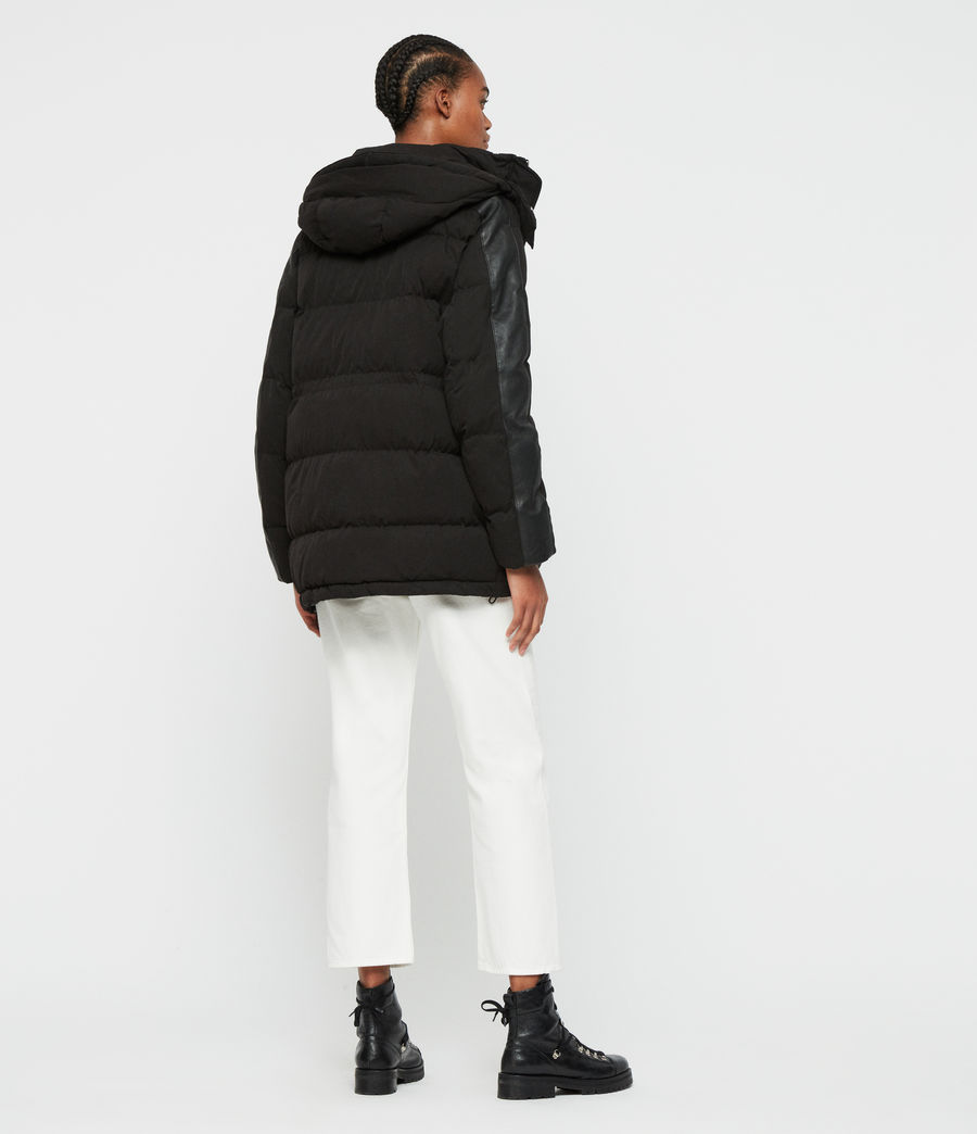 Womens Kyle Parka Puffer Coat (black) - Image 7