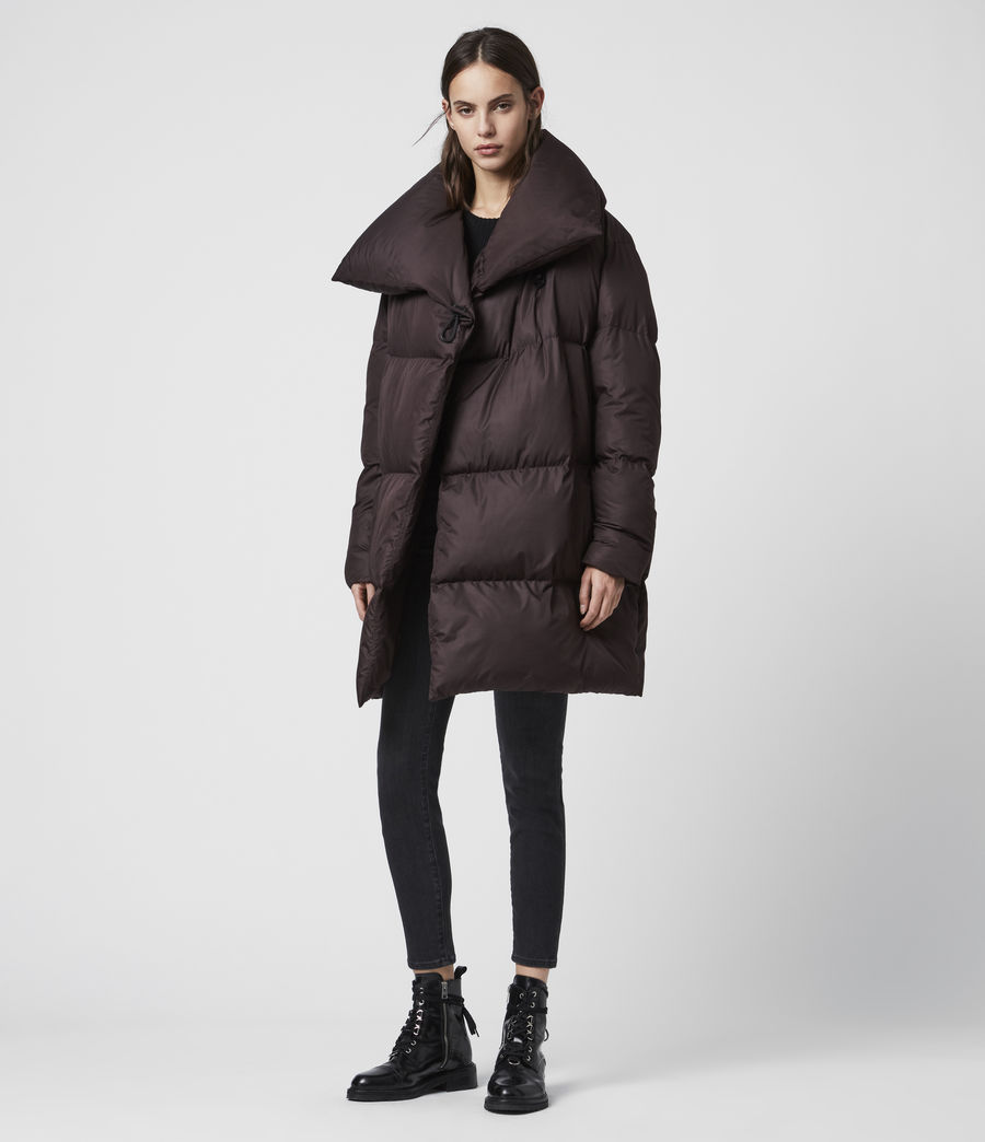 Women's Vrai Puffer Coat (mahogany_brown) - Image 1