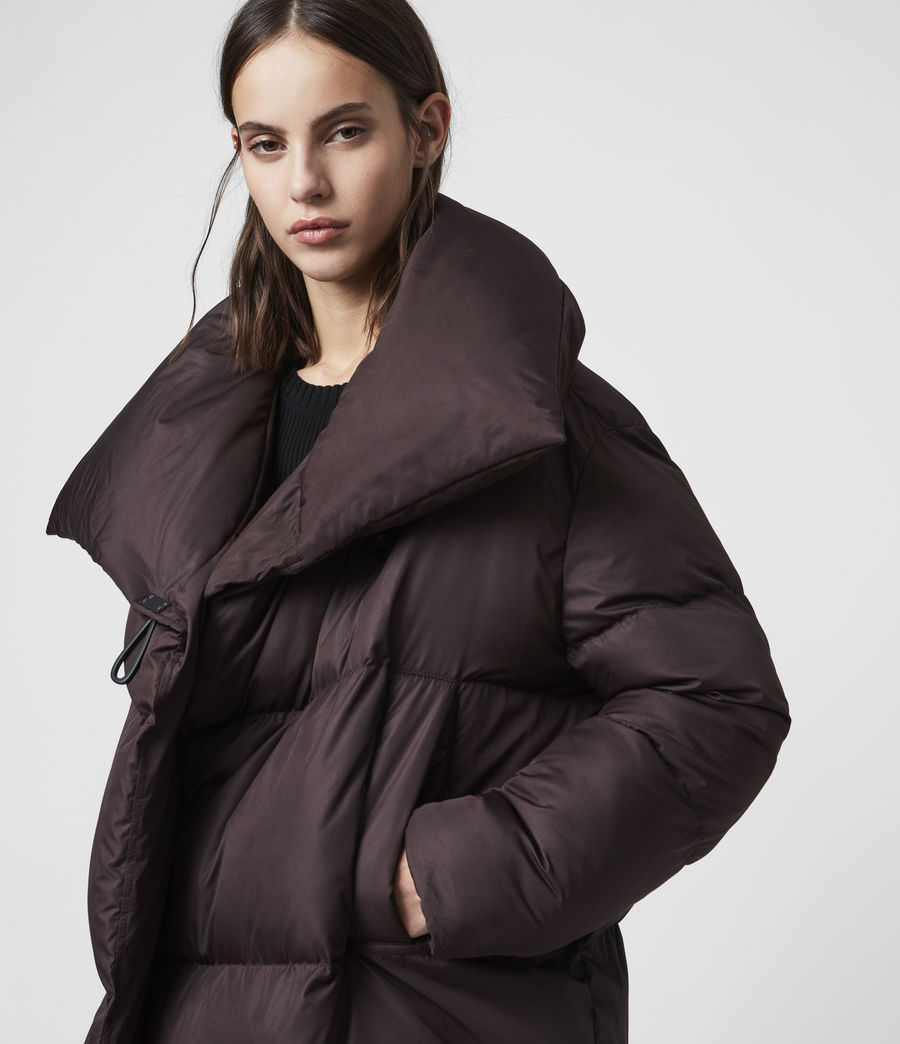 Women's Vrai Puffer Coat (mahogany_brown) - Image 2
