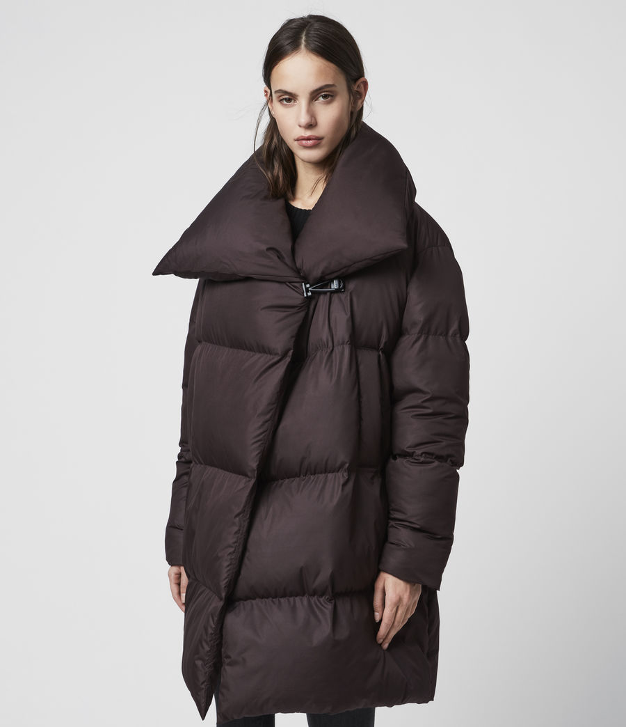 Women's Vrai Puffer Coat (mahogany_brown) - Image 3