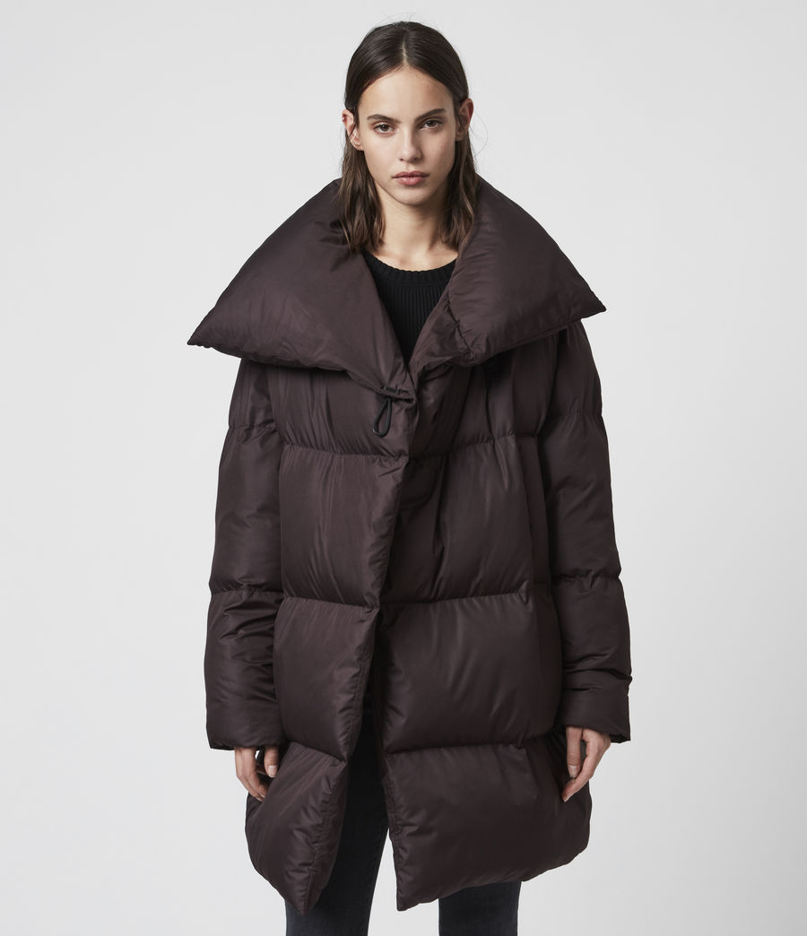 Women's Vrai Puffer Coat (mahogany_brown) - Image 4