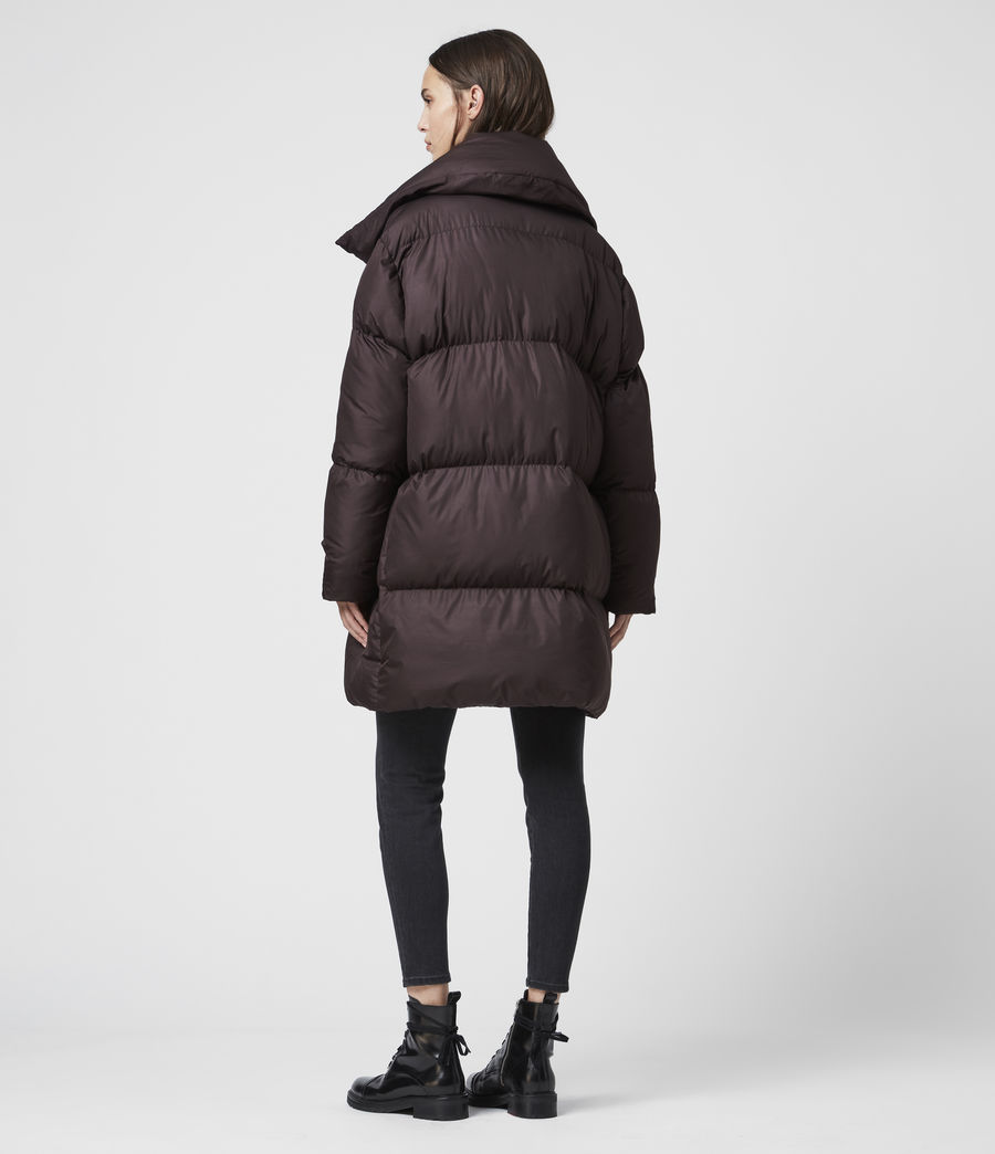 Women's Vrai Puffer Coat (mahogany_brown) - Image 5