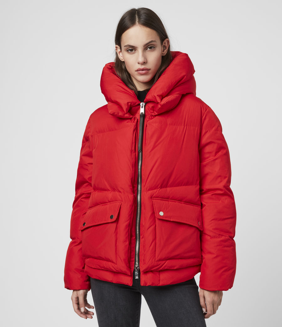 Womens Estee Puffer Coat (red) - Image 1