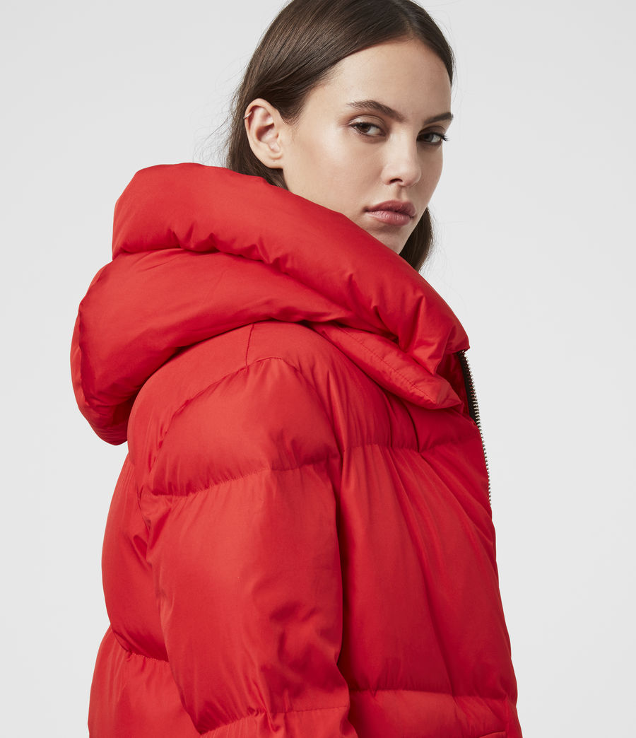 Womens Estee Puffer Coat (red) - Image 2