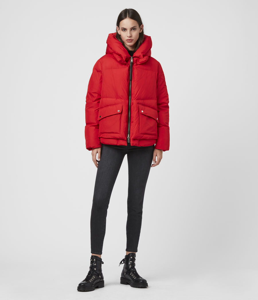 Womens Estee Puffer Coat (red) - Image 3