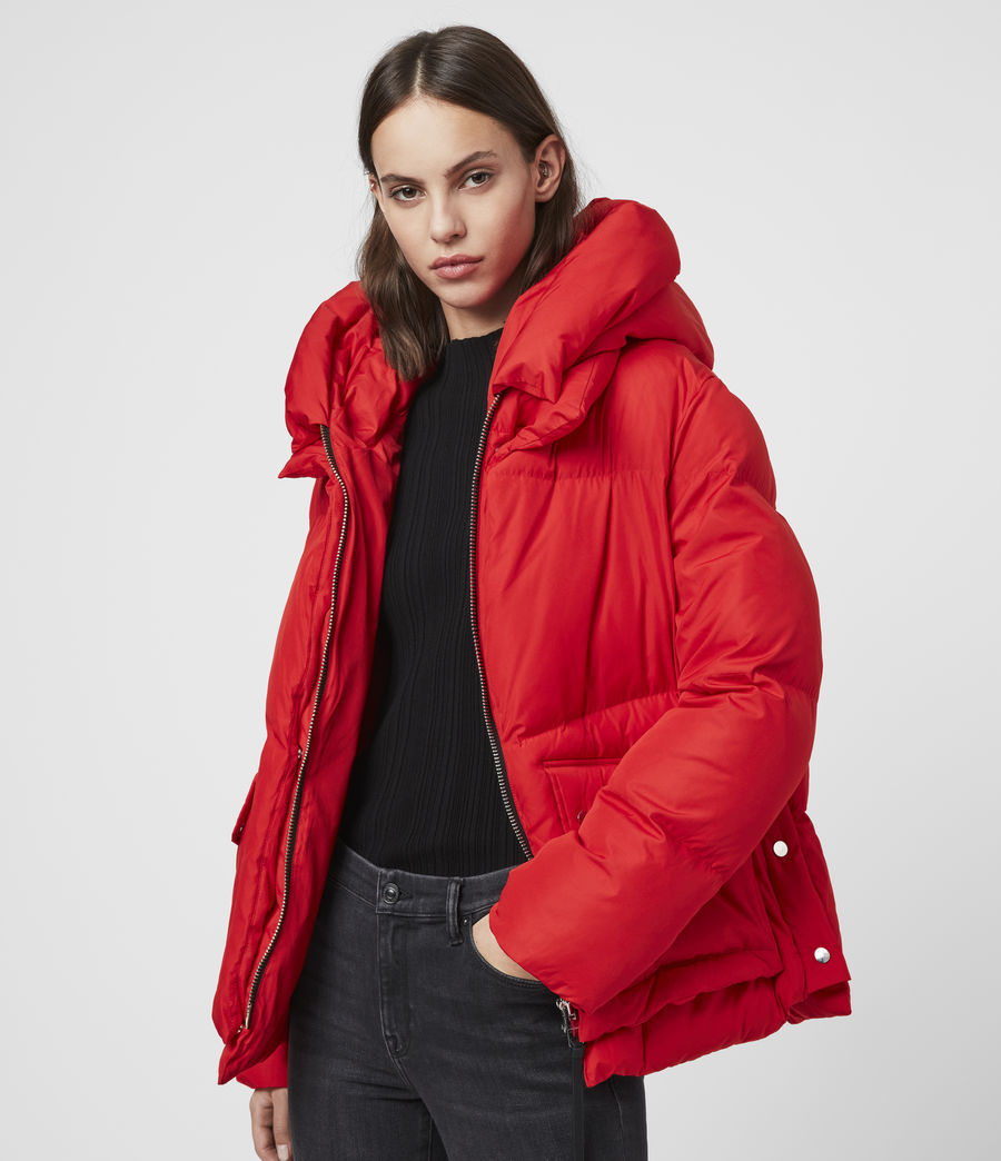Womens Estee Puffer Coat (red) - Image 4
