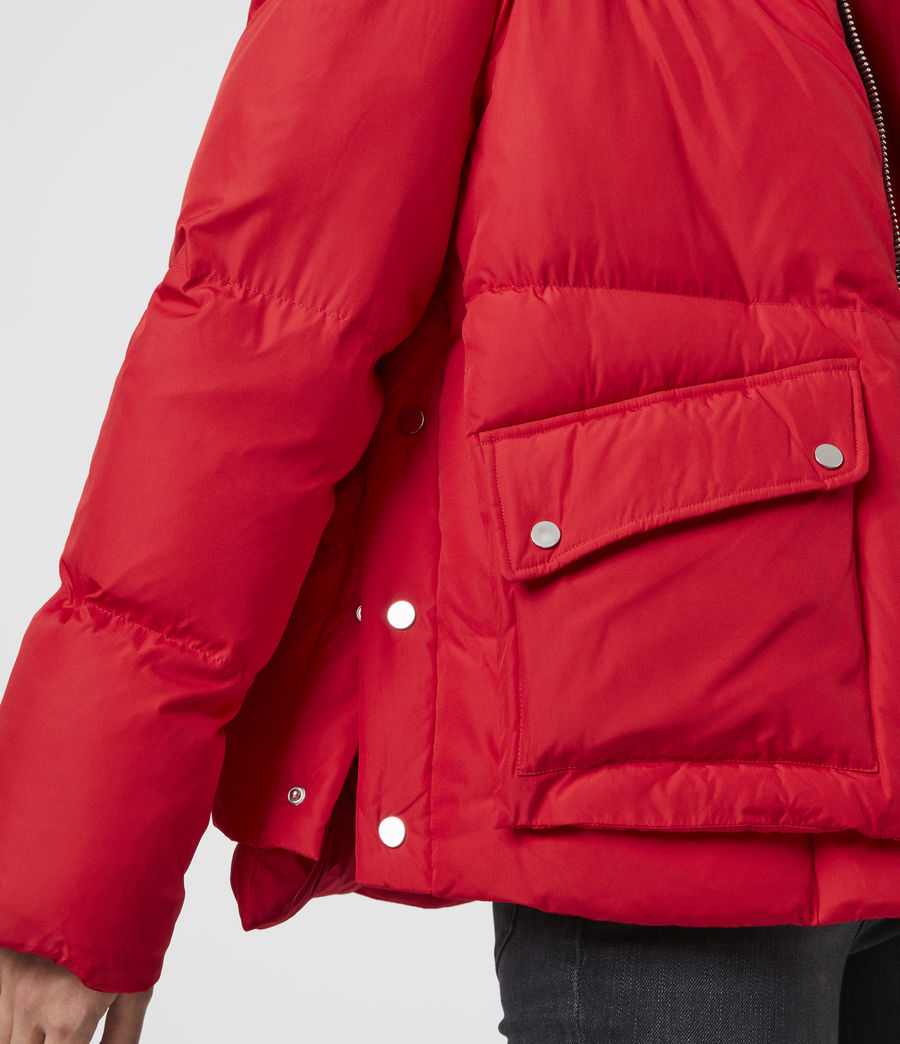 Womens Estee Puffer Coat (red) - Image 5