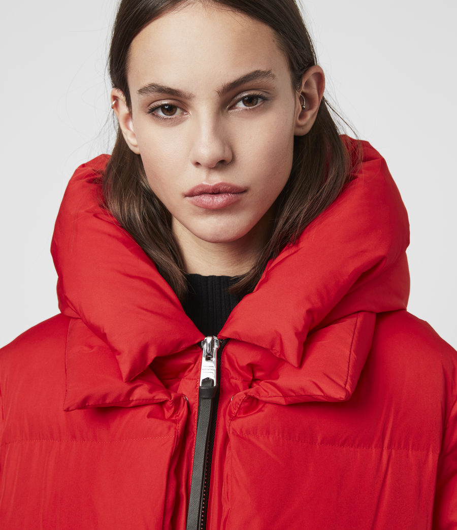 Womens Estee Puffer Coat (red) - Image 6