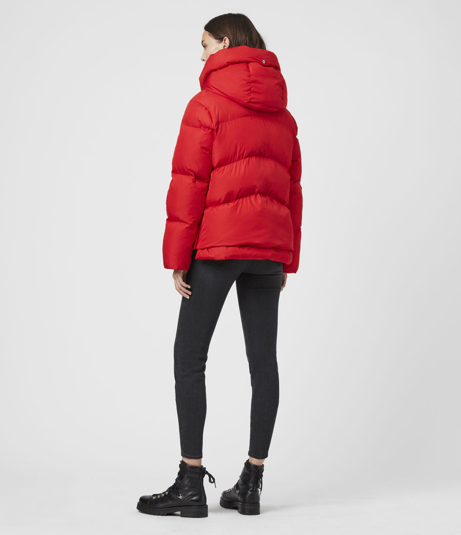 Womens Estee Puffer Coat (red) - Image 7