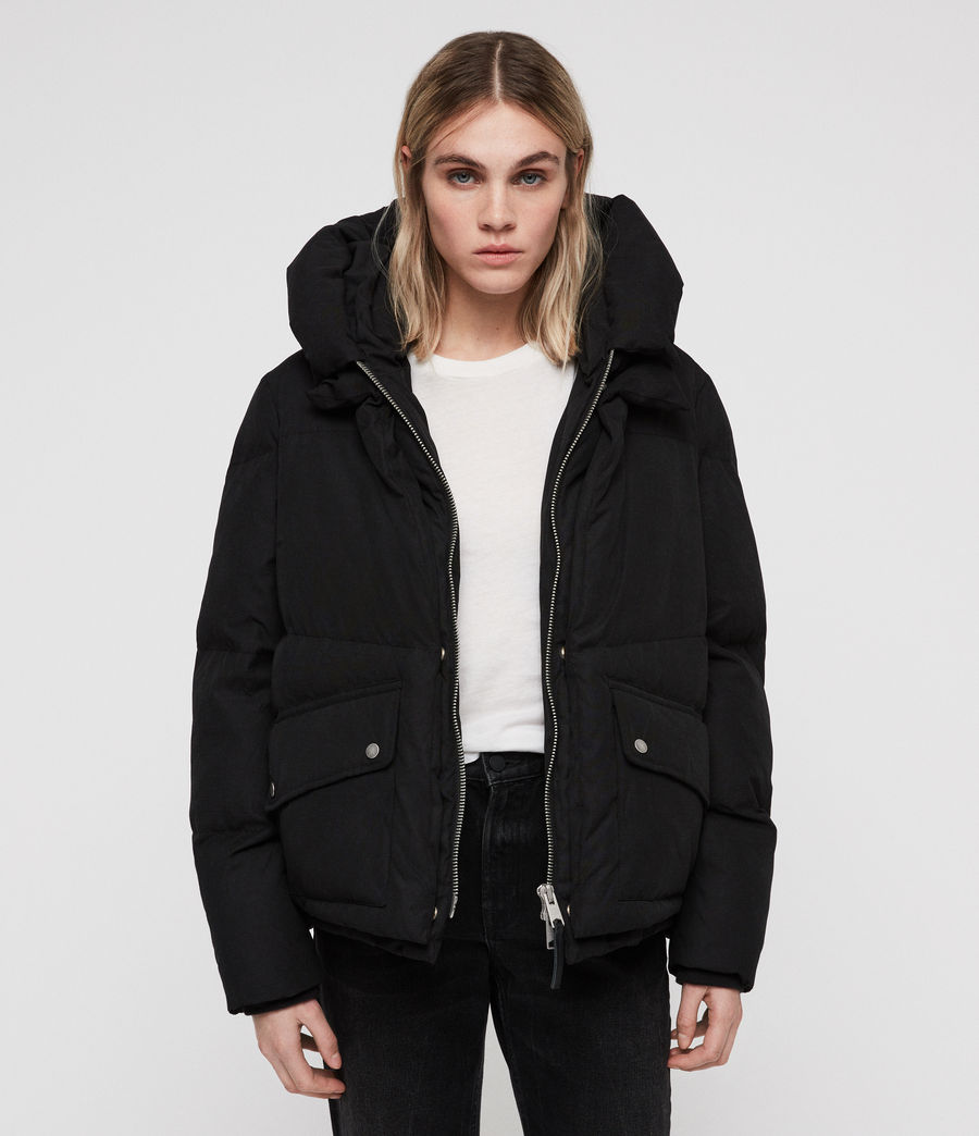 Women's Ester Puffer Coat (off_black) - Image 1