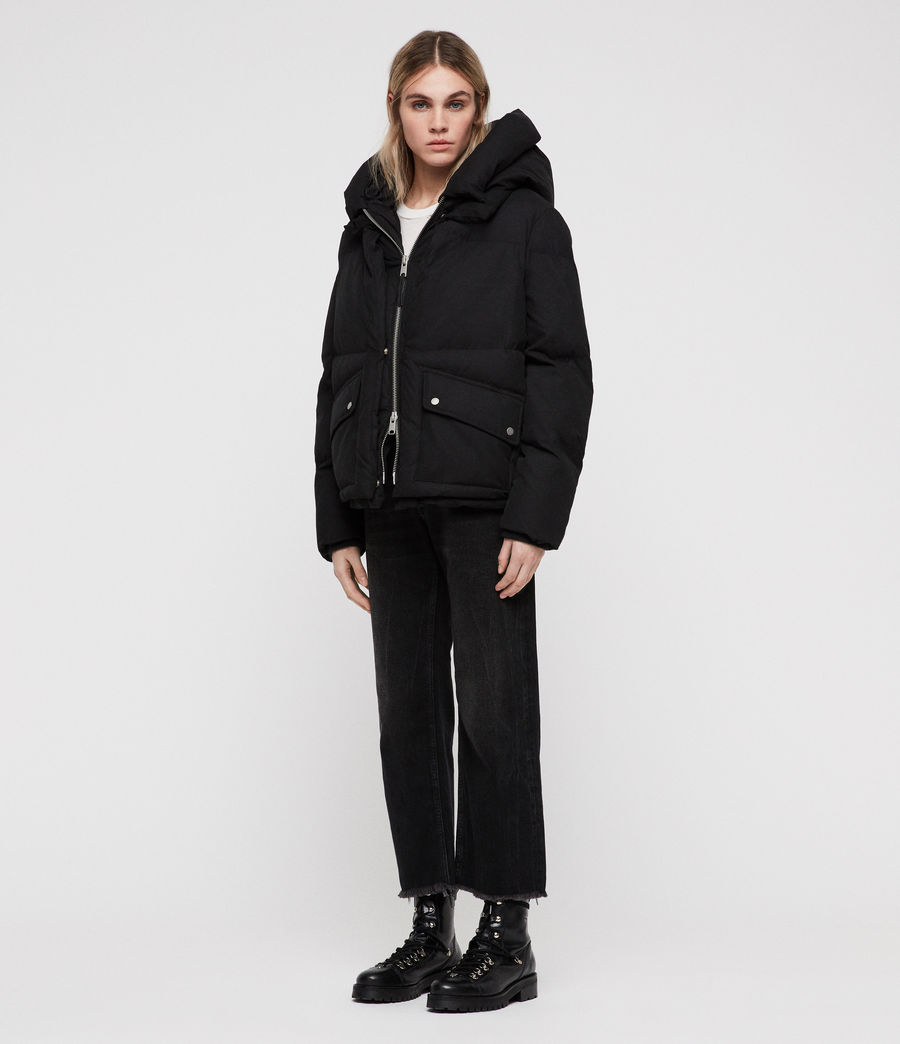Women's Ester Puffer Coat (off_black) - Image 2