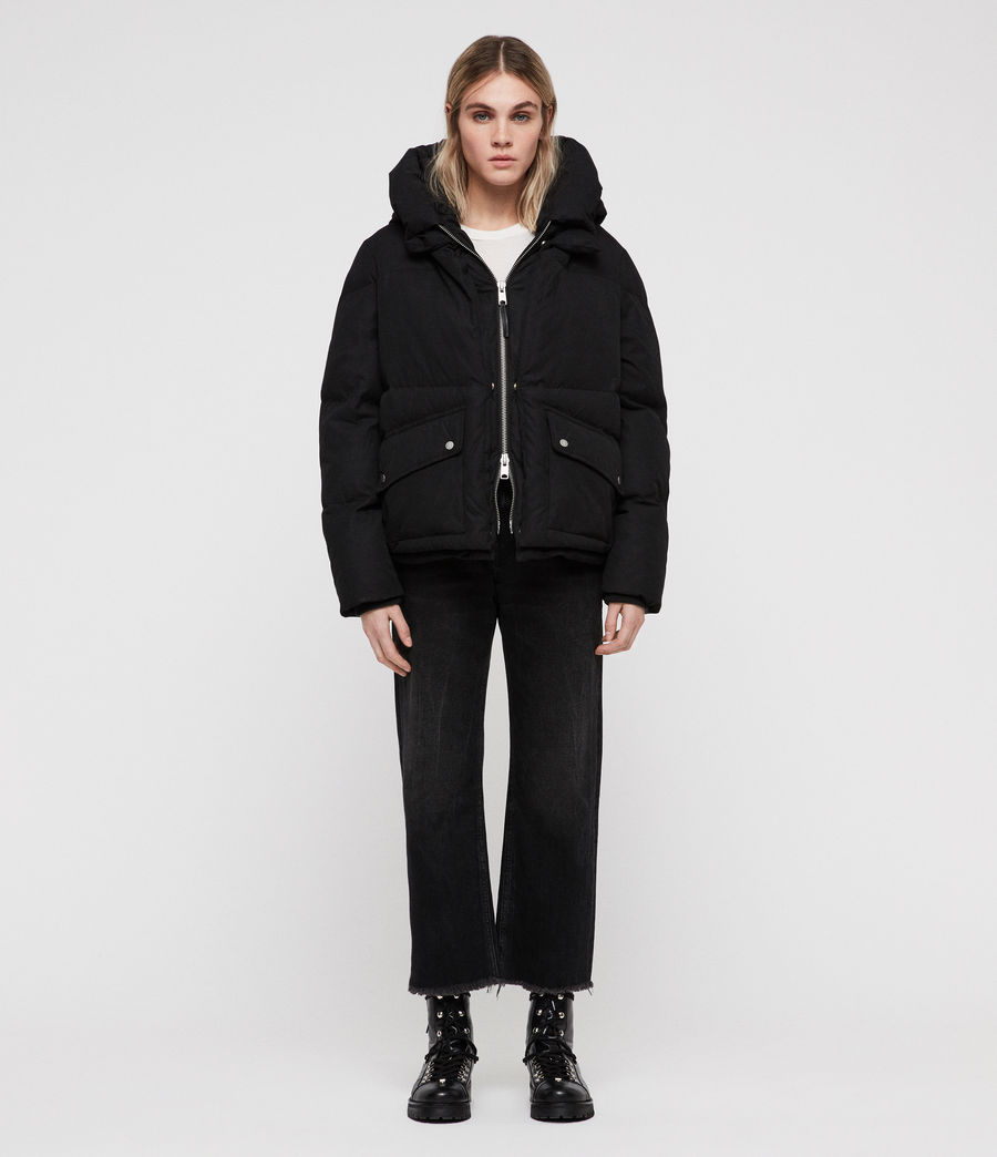 Women's Ester Puffer Coat (off_black) - Image 3