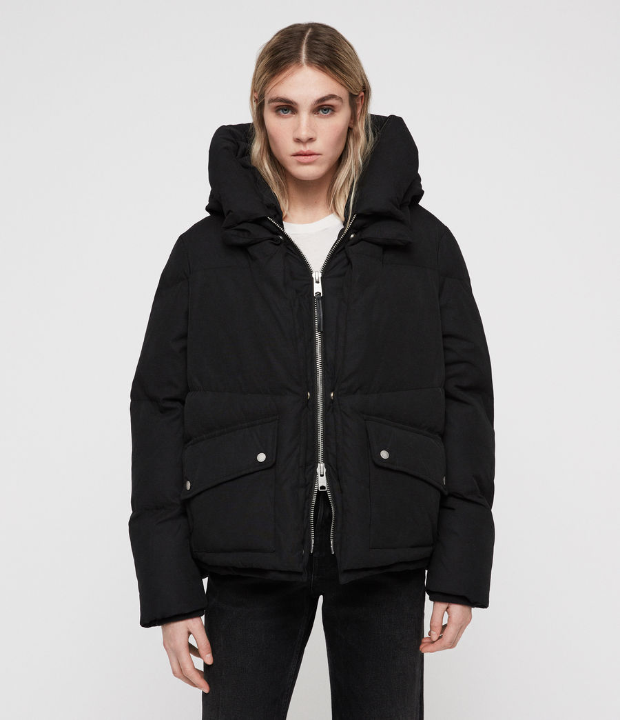 Women's Ester Puffer Coat (off_black) - Image 4