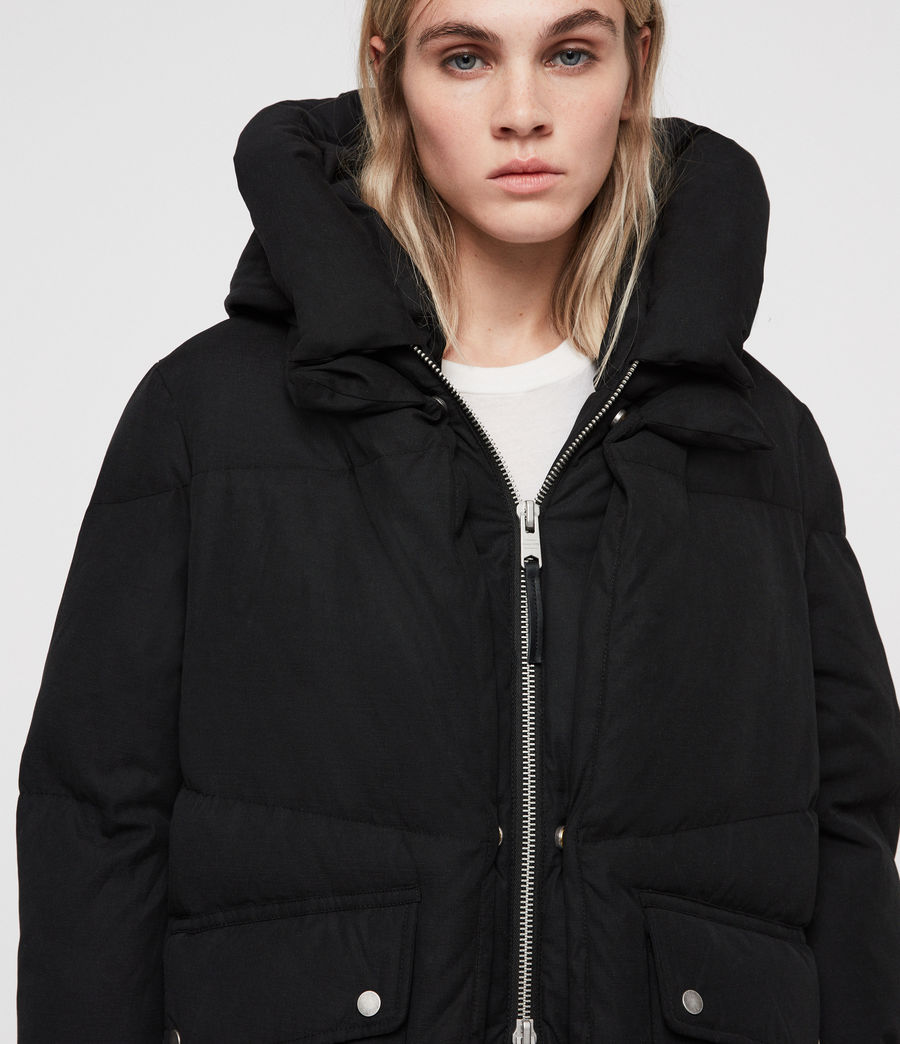 Women's Ester Puffer Coat (off_black) - Image 6