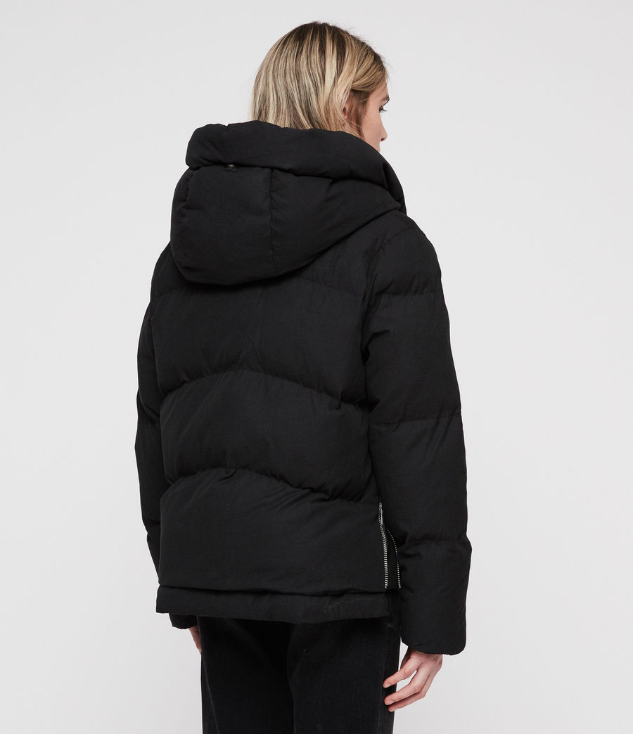 Women's Ester Puffer Coat (off_black) - Image 7