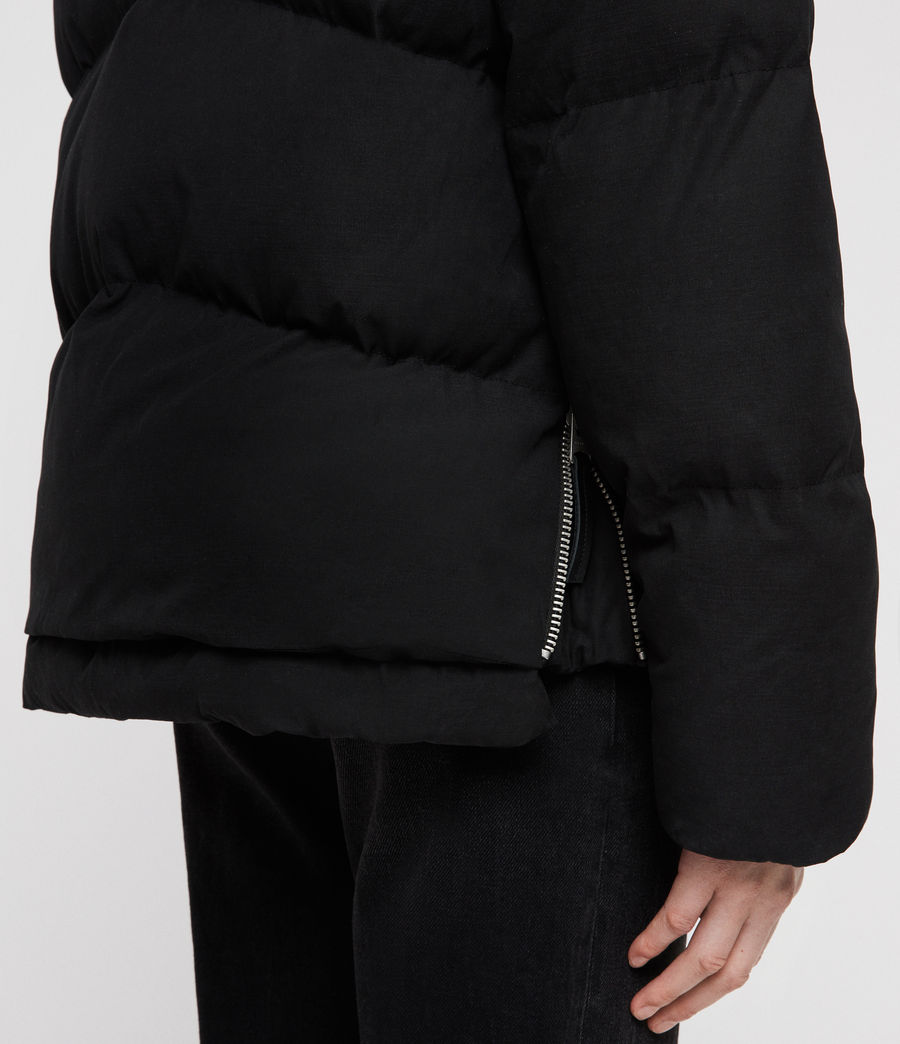 Women's Ester Puffer Coat (off_black) - Image 8