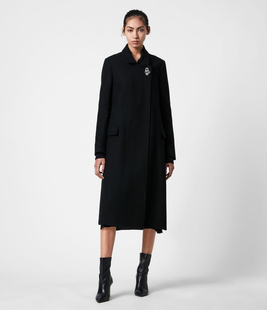 Womens Elin Wool Blend Coat (black) - Image 1