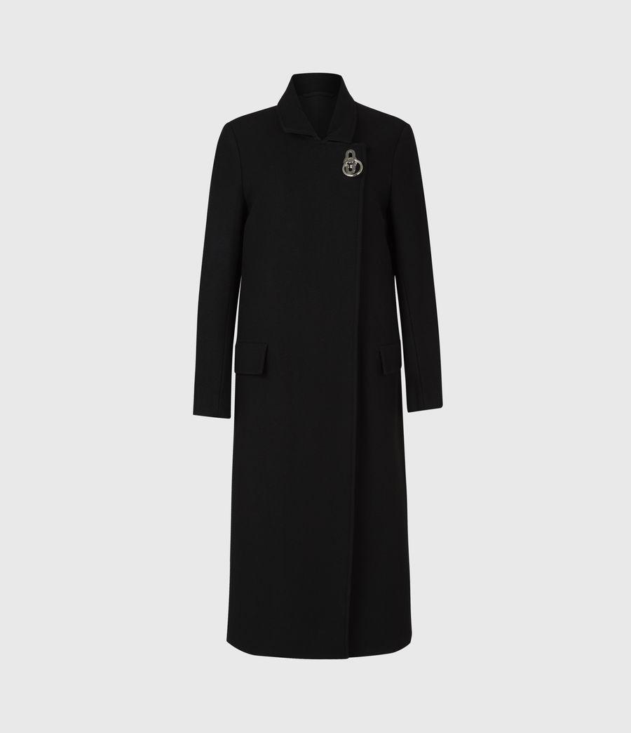 Womens Elin Wool Blend Coat (black) - Image 2