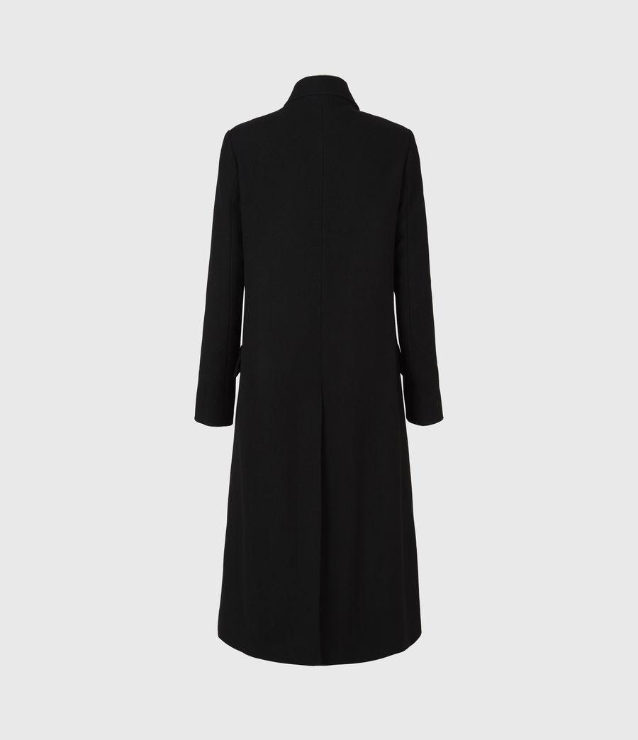 Womens Elin Wool Blend Coat (black) - Image 3