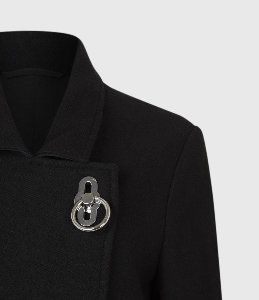 Womens Elin Wool Blend Coat (black) - Image 5