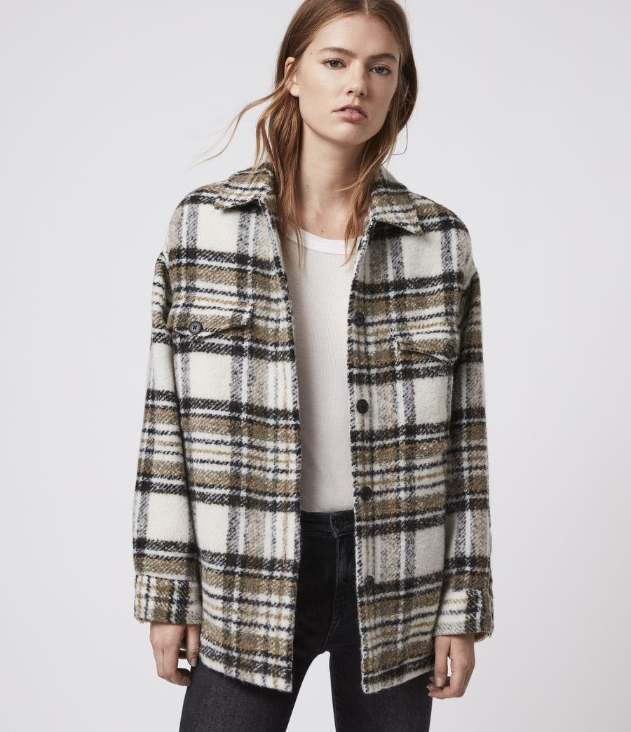 Womens Luella Check Jacket (ecru_white) - Image 1