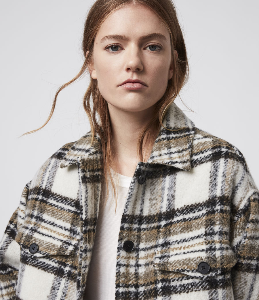 Womens Luella Check Jacket (ecru_white) - Image 2