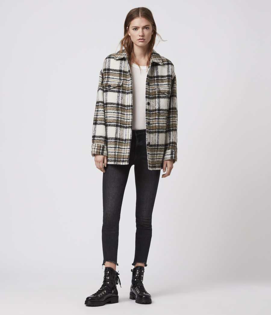 Womens Luella Check Jacket (ecru_white) - Image 3