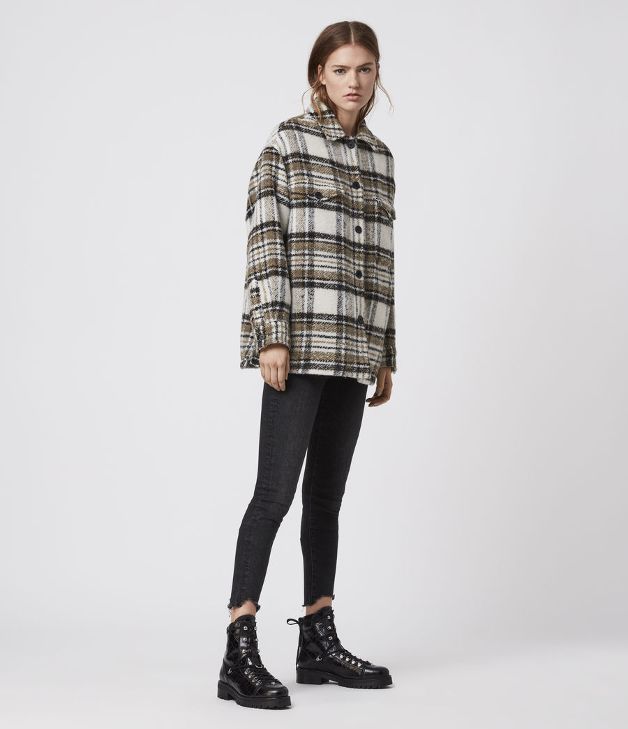 Womens Luella Check Jacket (ecru_white) - Image 4