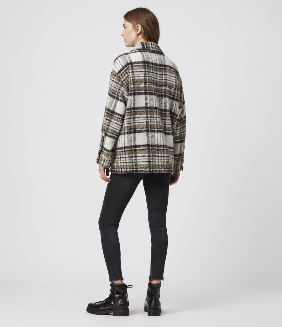 Womens Luella Check Jacket (ecru_white) - Image 5