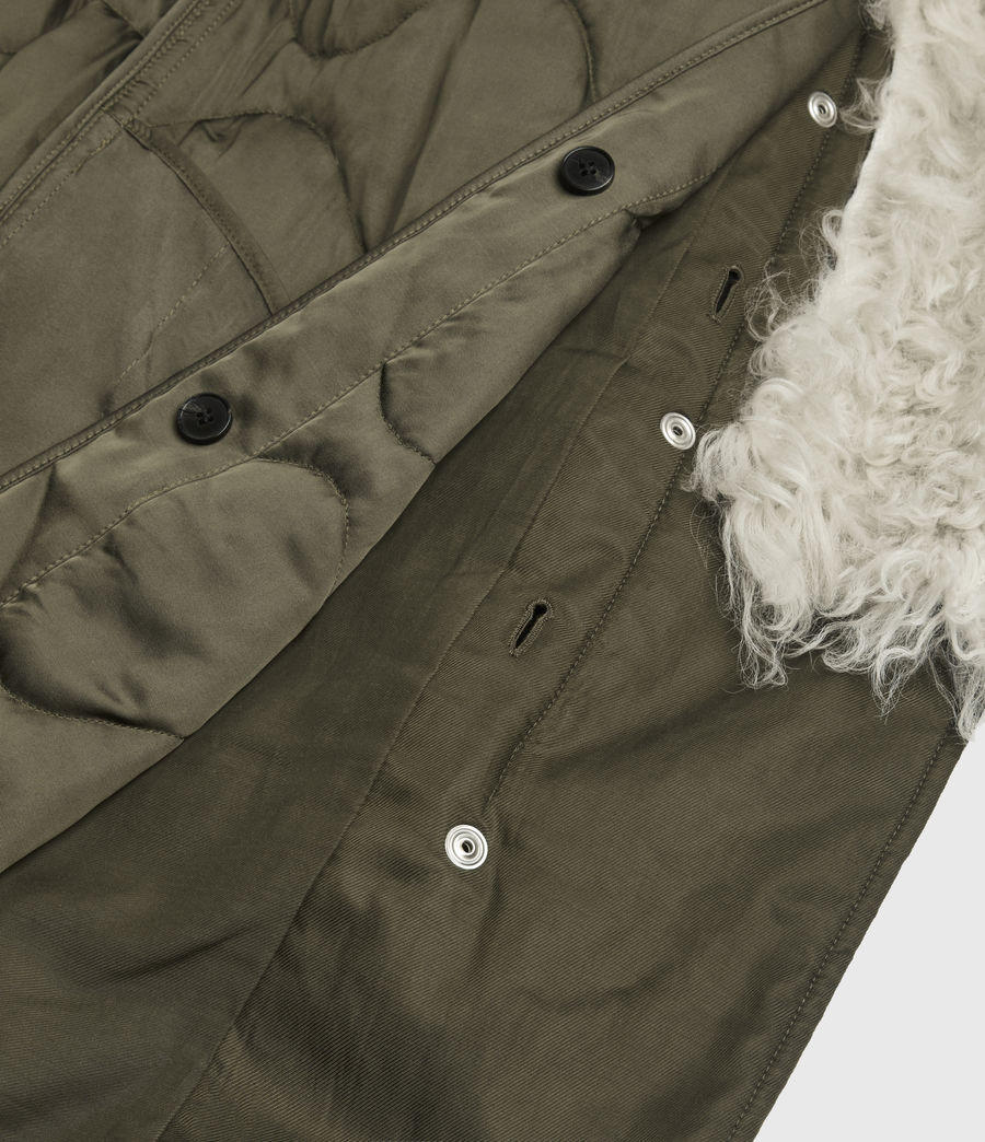Womens Skyla 3-in-1 Shearling Collar Parka (khaki_green) - Image 10