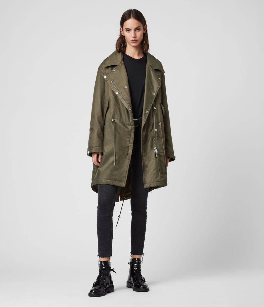 Womens Skyla 3-in-1 Shearling Collar Parka (khaki_green) - Image 2