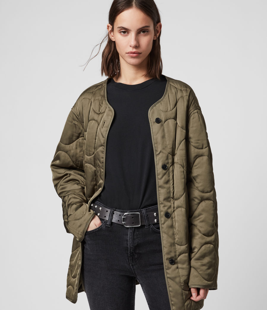 Womens Skyla 3-in-1 Shearling Collar Parka (khaki_green) - Image 5