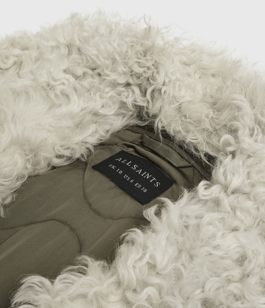 Womens Skyla 3-in-1 Shearling Collar Parka (khaki_green) - Image 9