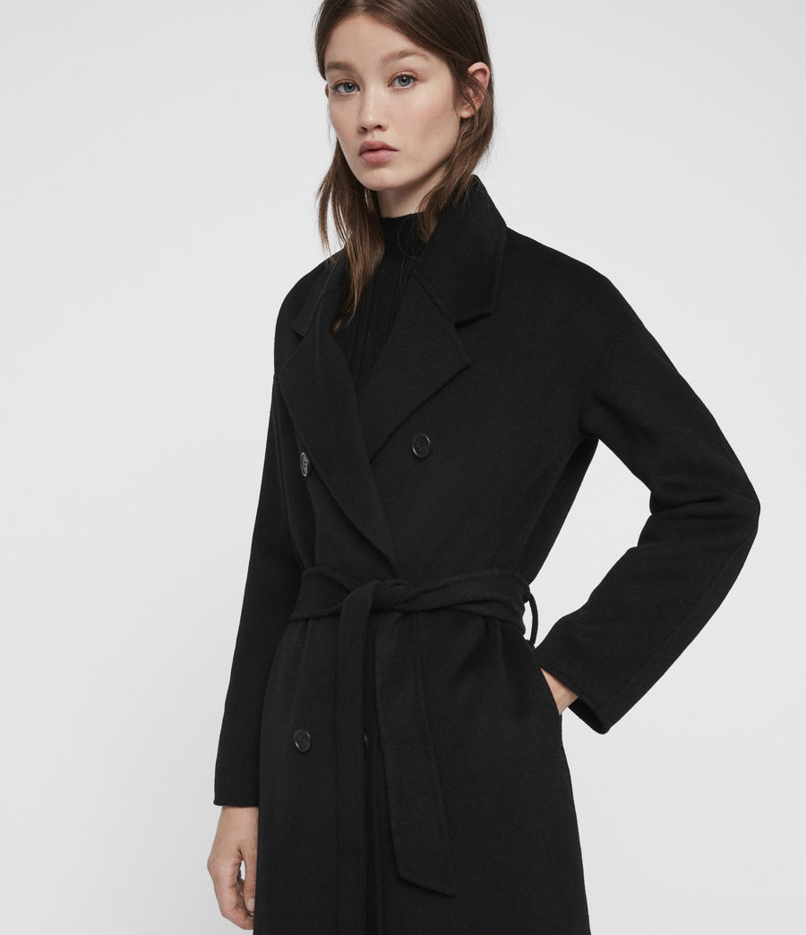 Womens Maddison Coat (black) - Image 2