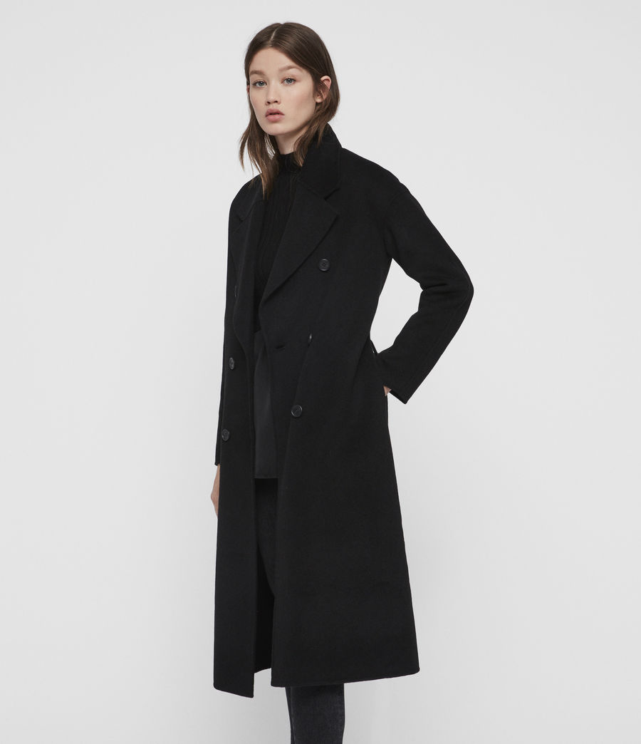 Womens Maddison Coat (black) - Image 5