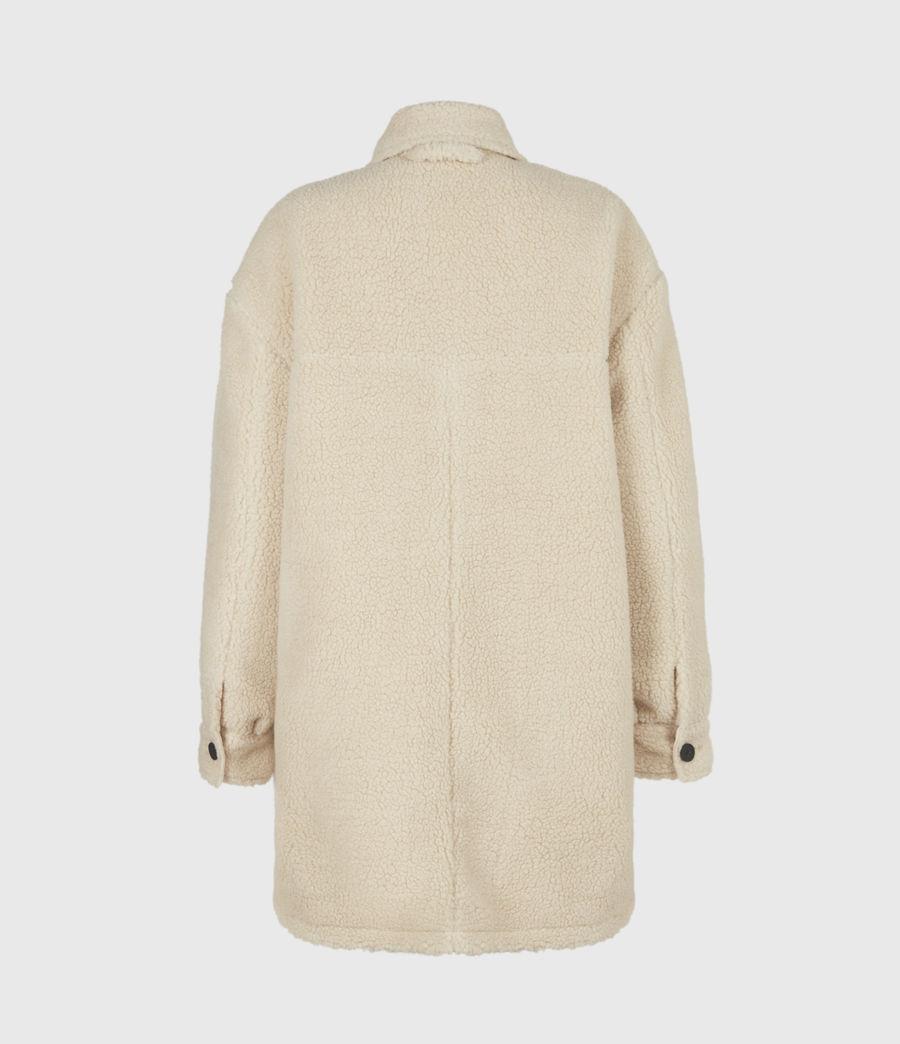 Womens Sophie Sherpa Jacket (stone_white) - Image 3