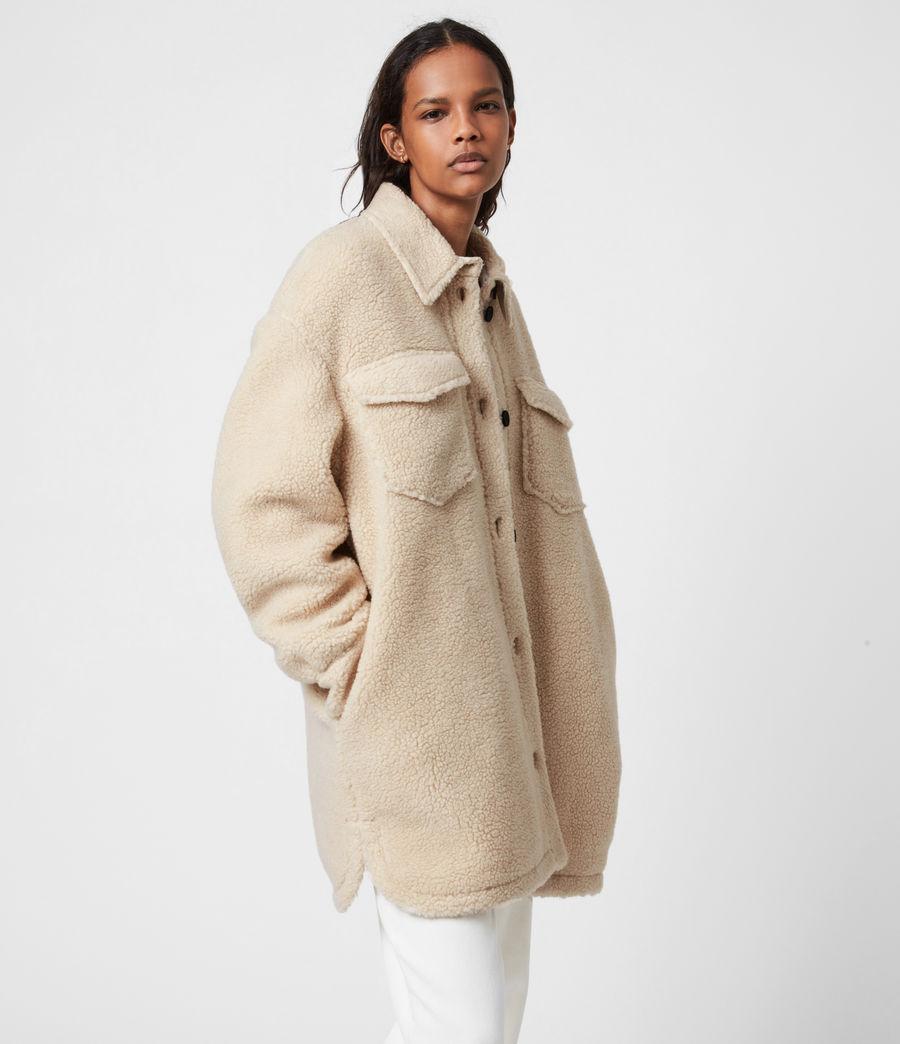 Womens Sophie Sherpa Jacket (stone_white) - Image 4
