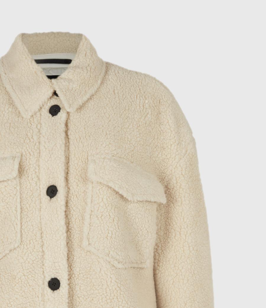 Womens Sophie Sherpa Jacket (stone_white) - Image 5