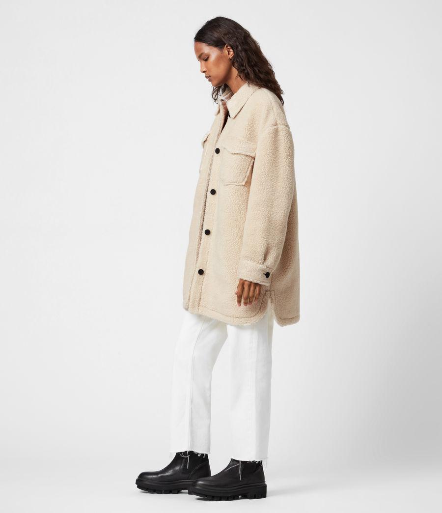 Womens Sophie Sherpa Jacket (stone_white) - Image 6