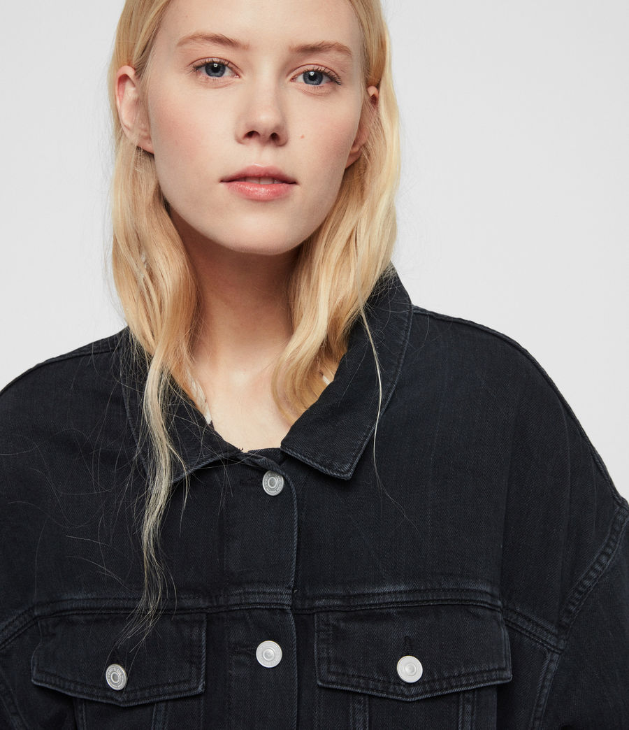 Womens Piper Oversized Denim Jacket (washed_black) - Image 3