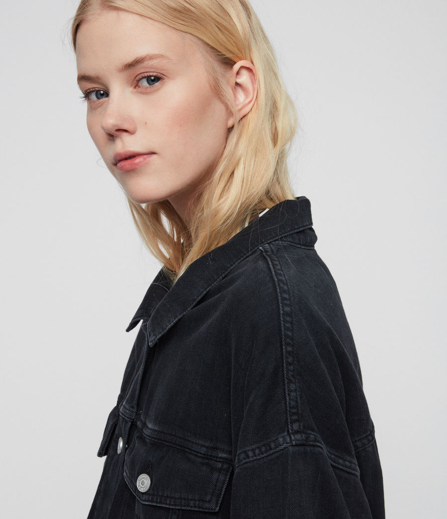 Womens Piper Oversized Denim Jacket (washed_black) - Image 6
