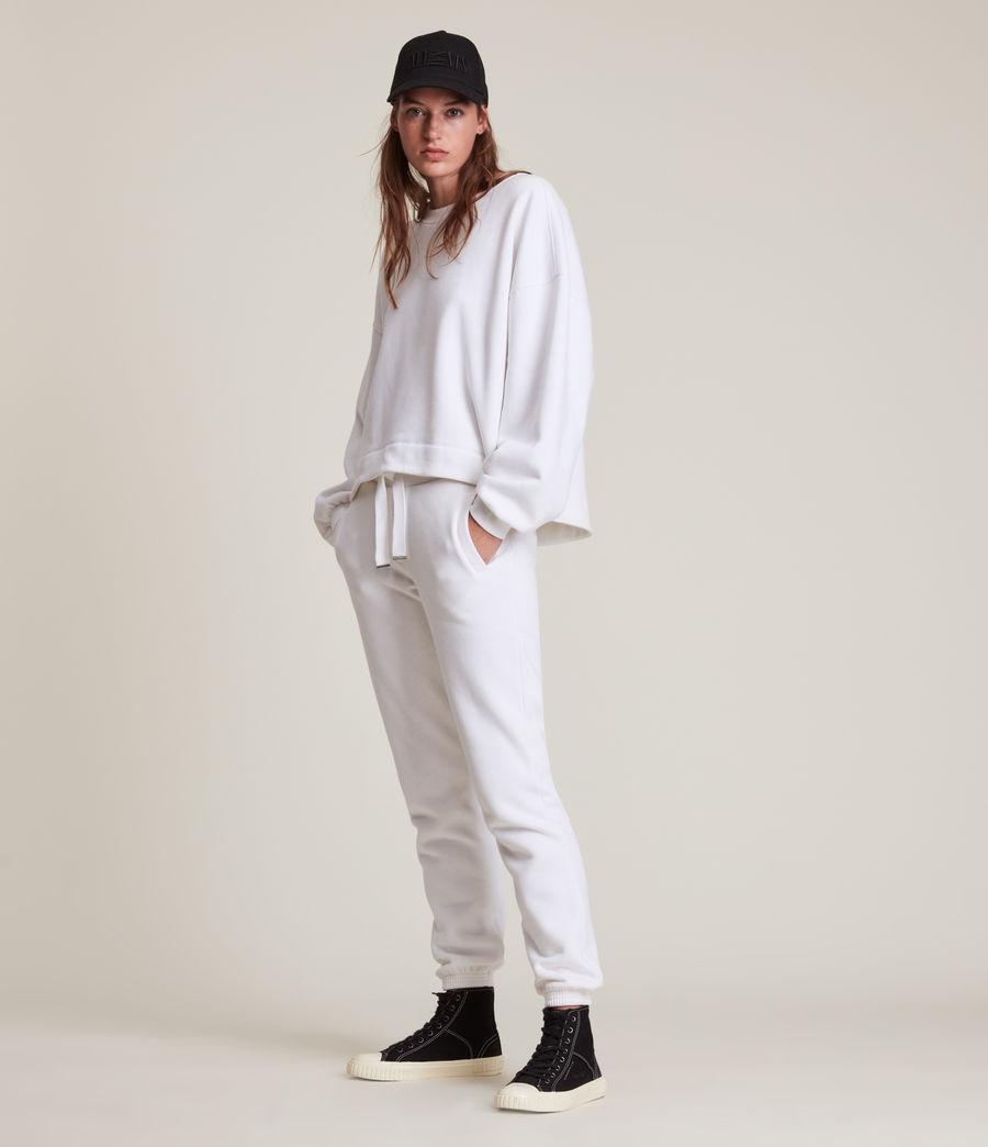 Women's Lila Cuffed Sweatpants (optic_white) - Image 1