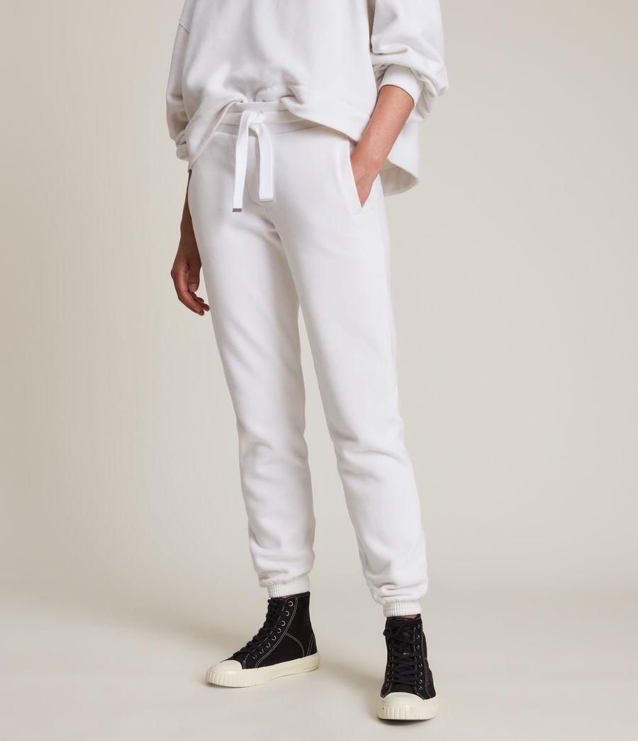 Women's Lila Cuffed Sweatpants (optic_white) - Image 2
