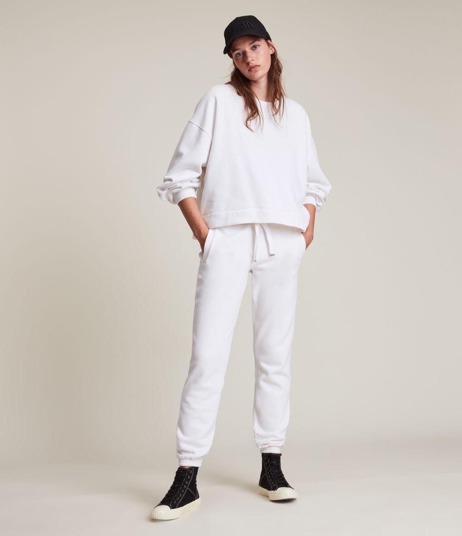 Women's Lila Cuffed Sweatpants (optic_white) - Image 3