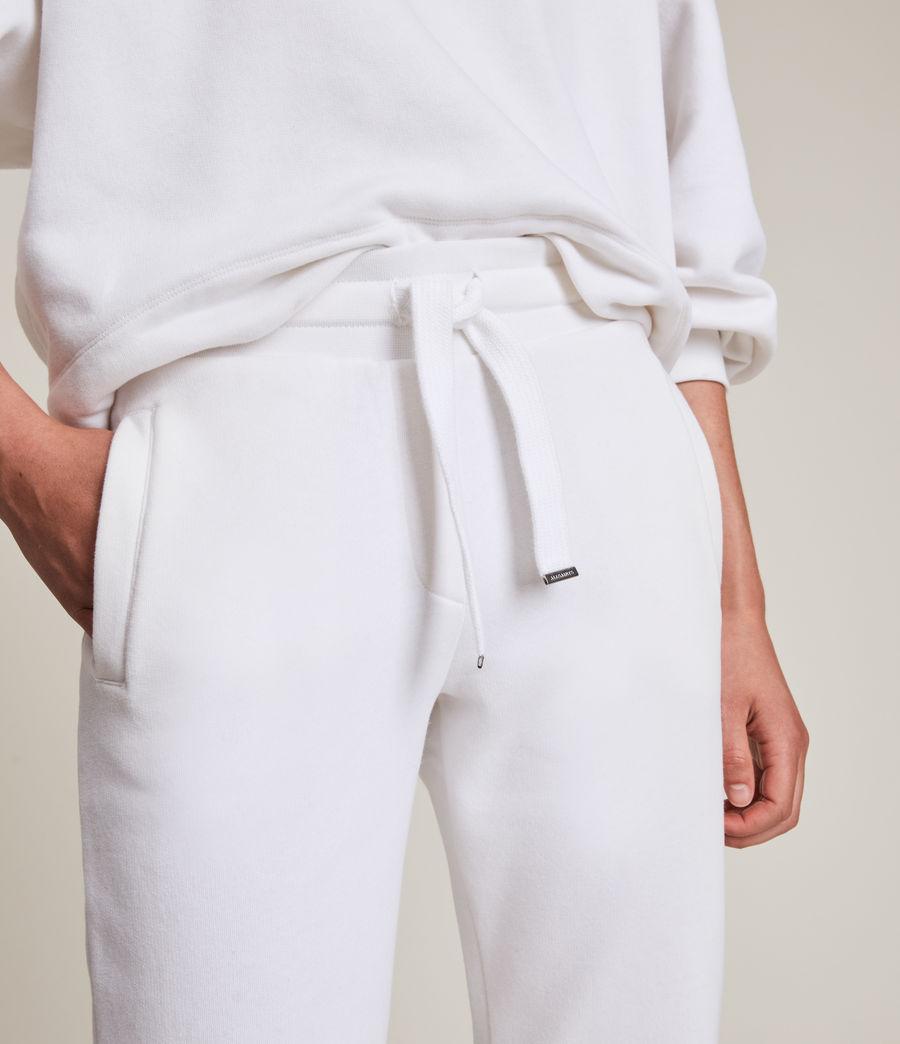 Women's Lila Cuffed Sweatpants (optic_white) - Image 4