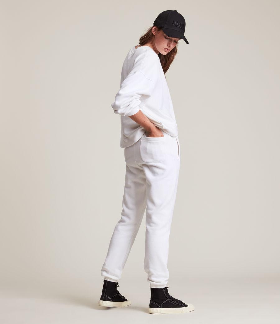Women's Lila Cuffed Sweatpants (optic_white) - Image 6