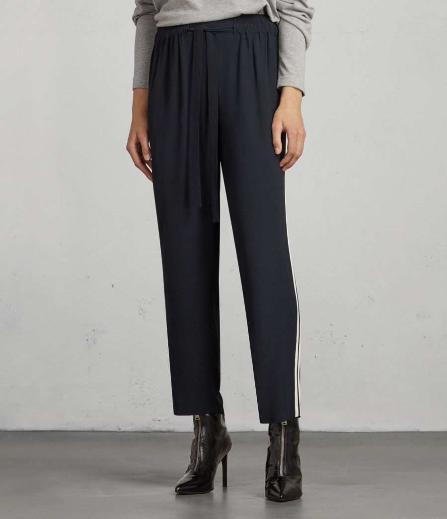 Womens Talia Stripe Trouser (ink_blue_chalk) - Image 3
