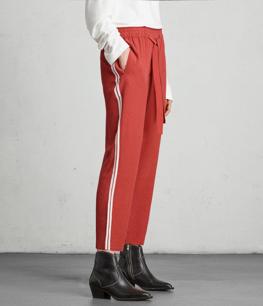 Womens Talia Stripe Trouser (coral_red_white) - Image 1