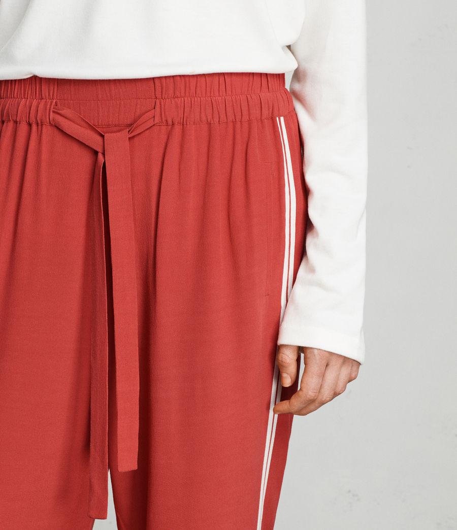 Womens Talia Stripe Trouser (coral_red_white) - Image 2